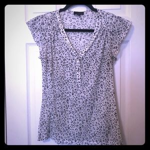 The Limited leopard sheer top